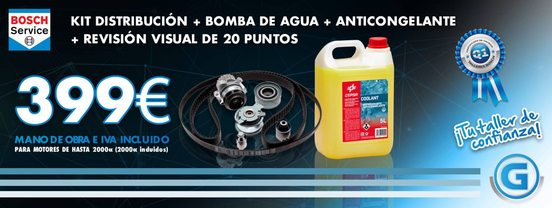 bomba agua + kit correa distribucion precio
